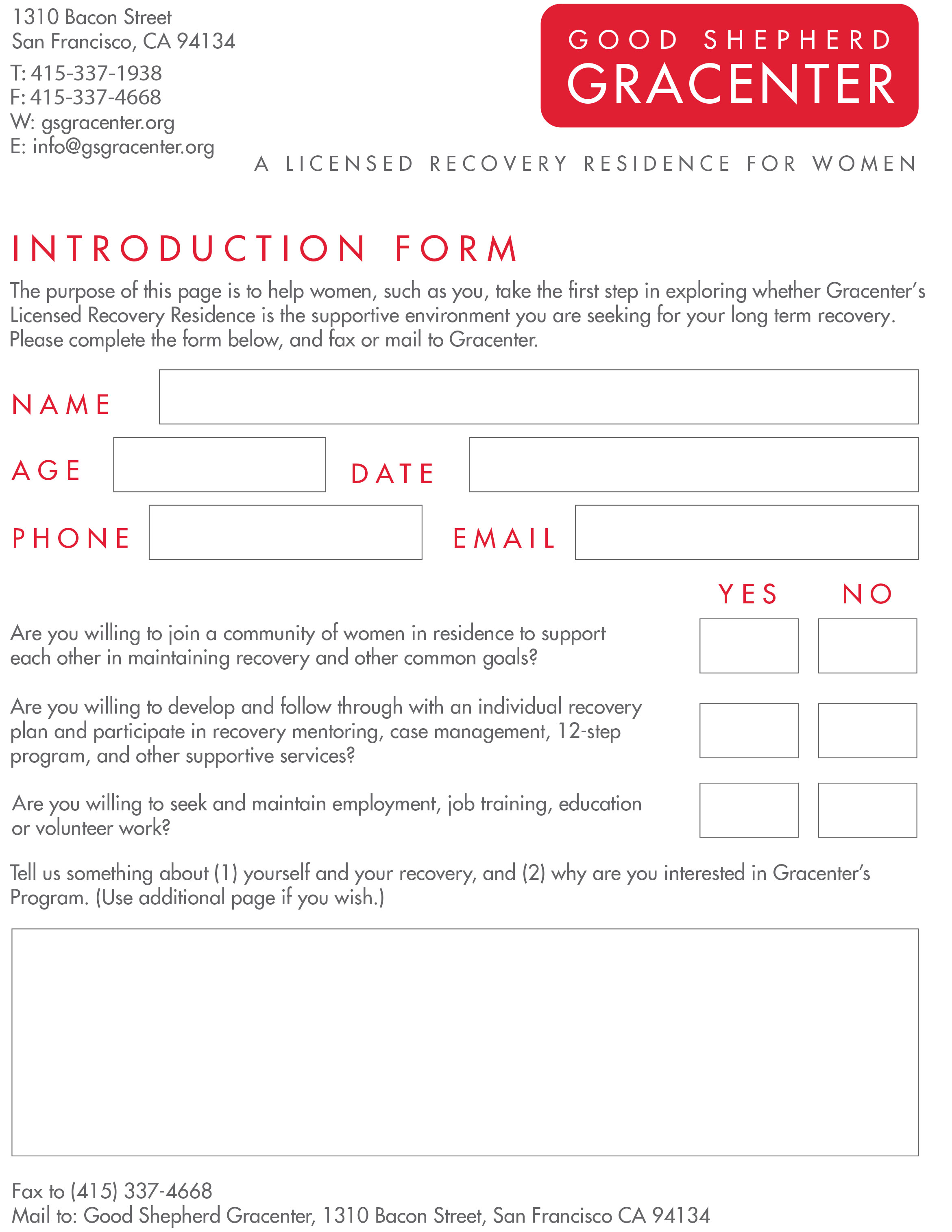 introduction form 2018