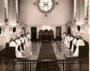 Sisters of the Good Shepherd in The Chapel at University Mound School, 1961.